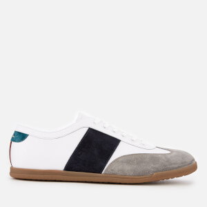 Paul Smith Men's Holzer Wing Tip Low Profile Trainers - White/Navy Stripe