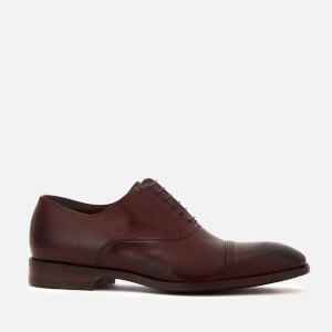 Paul Smith Men's Bertin Leather Toe Cap Oxford Shoes - Aubergine
