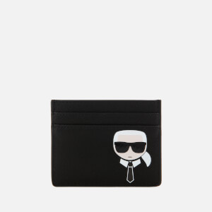 Karl Lagerfeld Women's K/Ikonik Card Holder - Black
