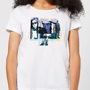 T-Shirt Femme Bulles de Comics Jessica Jones - Marvel Knights - Blanc
