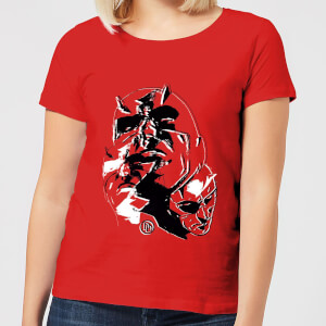 Marvel Knights Daredevil Layered Faces Dames T-shirt - Rood