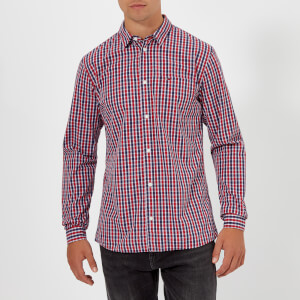 Tommy Jeans Men's TJM Essential Check Long Sleeve Shirt - Samba