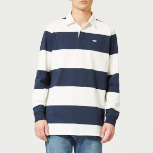 Tommy Jeans Men's TJM Tommy Classic Rugby Shirt - Navy/White