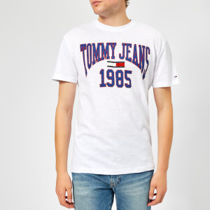 Tommy Jeans Men's TJM Collegiate Logo T-Shirt - Classic White