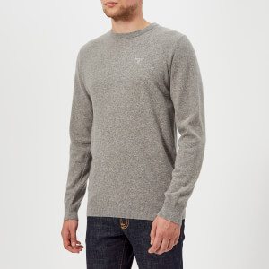 Barbour Men's Lambswool Crew Neck Knitted Jumper - Grey Marl