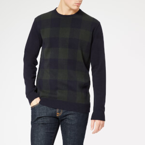 Barbour Men's Buffalo Crew Knitted Jumper - Seaweed
