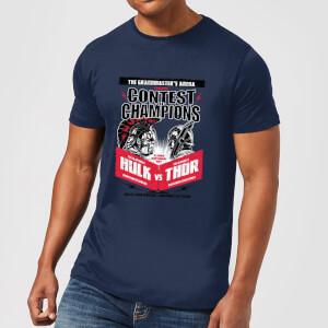Marvel Thor Ragnarok Champions Poster Herren T-Shirt - Navy Blau