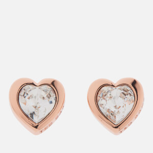 97556af05 Ted Baker Women s Han  Swarovski Crystal Heart Earrings - Rose Gold Crystal