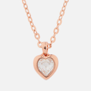 Ted Baker Women's Hannela: Swarovski Crystal Heart Pendant - Rose Gold/Crystal