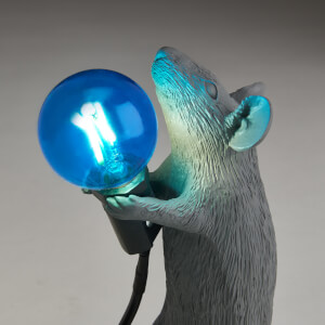 Seletti Standing Mouse Lamp - Grey: Image 4