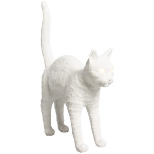Seletti Jobby The Cat Lamp - White: Image 1