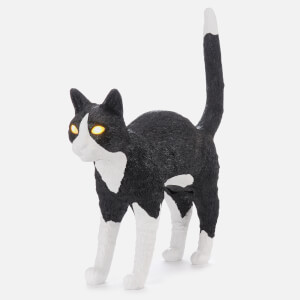 Seletti Jobby The Cat Lamp - Black/White