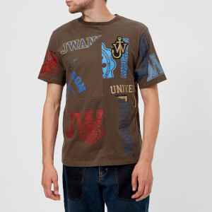 JW Anderson Men's Cut Out Printed T-Shirt - Khaki