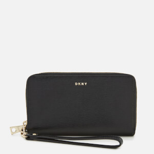 DKNY Women's Bryant New Wristlet - Black/Gold