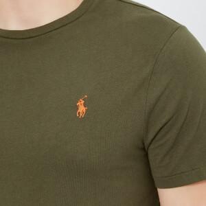 Polo Ralph Lauren Men's Basic Crew Neck Short Sleeve T-Shirt - Expedition Olive: Image 4