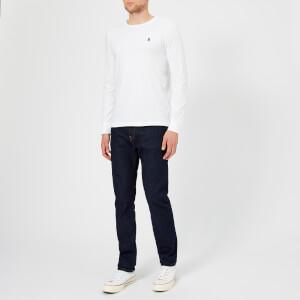 Polo Ralph Lauren Men's Basic Crew Neck Long Sleeve T-Shirt - White: Image 3
