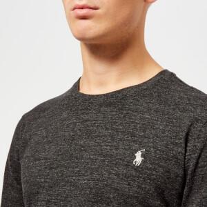 Polo Ralph Lauren Men's Basic Crew Neck Long Sleeve T-Shirt - Black Marl Heather: Image 4