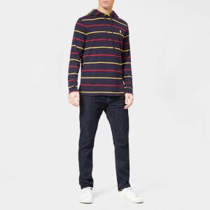 Polo Ralph Lauren Men's Stripe Hooded Long Sleeve T-Shirt - Ink Multi: Image 3