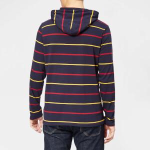 Polo Ralph Lauren Men's Stripe Hooded Long Sleeve T-Shirt - Ink Multi: Image 2