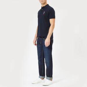 Polo Ralph Lauren Men's Ted Short Sleeve Polo Shirt - Aviator Navy: Image 3
