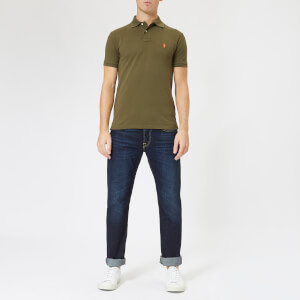 Polo Ralph Lauren Men's Slim Fit Short Sleeve Polo Shirt - Expedition Olive: Image 3