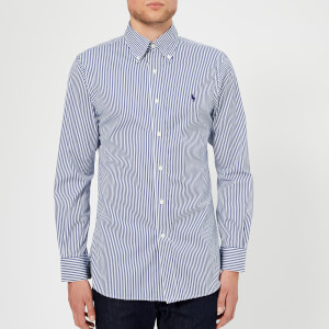 Polo Ralph Lauren Men's Formal Stripe Twill Shirt - Azure/White