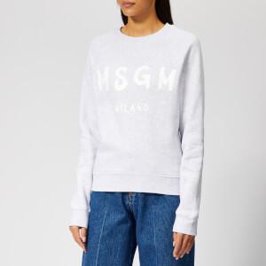 MSGM Women's Sweatshirt with Logo - Grey