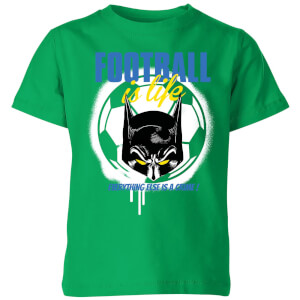 T-Shirt Enfant Football Is Life Batman DC Comics - Vert
