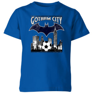 DC Batman Football Gotham City Kids' T-Shirt - Royal Blue
