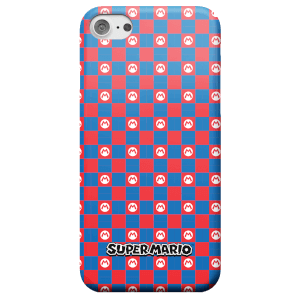 Nintendo Super Mario Checkerboard Pattern Phone Case