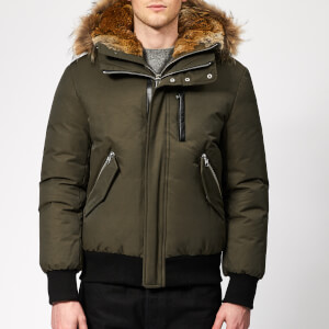 Mackage Men's Dixon Down Bomber Jacket - Army Natural