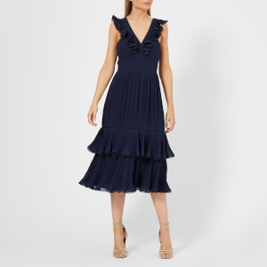 Whistles Women's Florella Pleated Dress - Navy