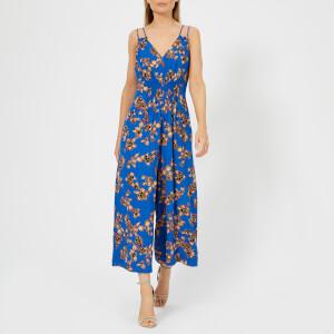 Whistles Women's Armelle Capri Print Jumpsuit - Blue/Multi