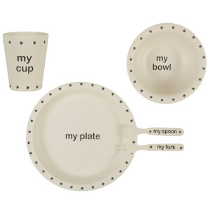 Sass & Belle My Black Star Bamboo Tablewear Set