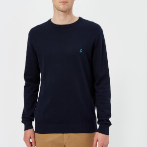 Joules Men's Jarvis Crew Neck Knitted Jumper - French Navy