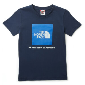 The North Face Boys' Youth Box Short Sleeve T-Shirt - Cosmic Blue/Turkish Sea