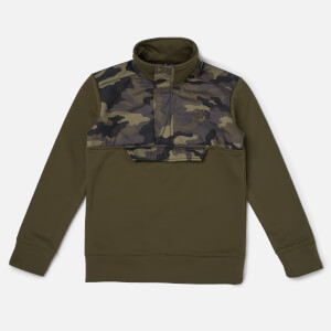 The North Face Boys' Surgent 1/4 Zip Sweatshirt - New Taupe Green