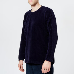 Our Legacy Men's Round Neck Velvet Knitted Jumper - Navy