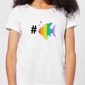 Rainbow Fish Bubble Women's T-Shirt - White