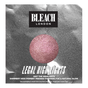 Iluminador en polvo Legal Highlights Rose de BLEACH LONDON