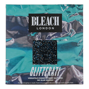 BLEACH LONDON Glitter Ati Text Me Black