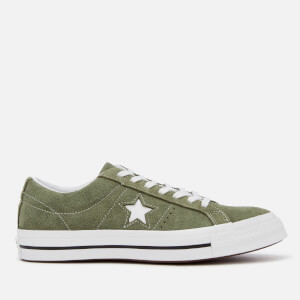 Converse Men's One Star Ox Trainers - Field Surplus/White
