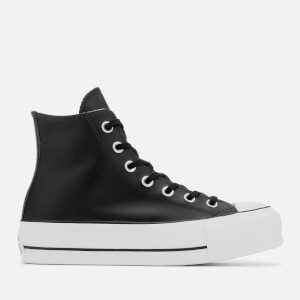 Converse Women's Chuck Taylor All Star Lift Clean Hi-Top Trainers - Black/White
