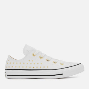 Converse Women's Chuck Taylor All Star Ox Trainers - White/Gold