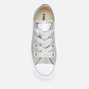 Converse Women's Chuck Taylor All Star Big Eyelets Ox Trainers - Metallic Silver/Silver/White: Image 3