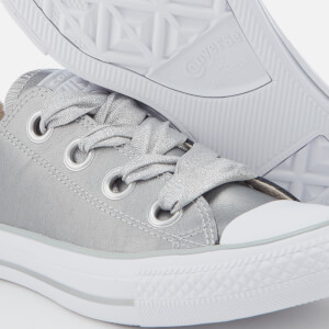 Converse Women's Chuck Taylor All Star Big Eyelets Ox Trainers - Metallic Silver/Silver/White: Image 4
