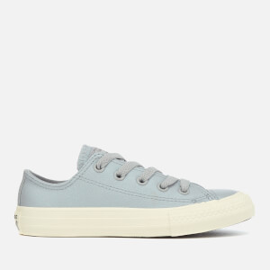 Converse Kids' Chuck Taylor All Star Ox Trainers - Wolf Grey/Black/Egret