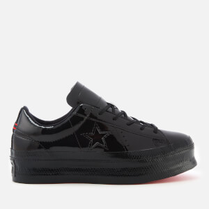Converse Women's One Star Platform Ox Trainers - Black/Black/Black