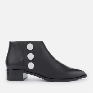 Senso Women's Lionel Grained Leather Flat Ankle Boots - Ebony