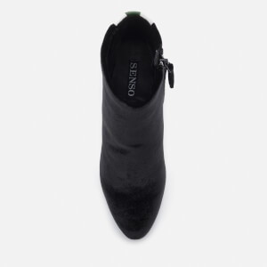 Senso Women's Jensen IV Velvet Heeled Ankle Boots - Ebony: Image 3
